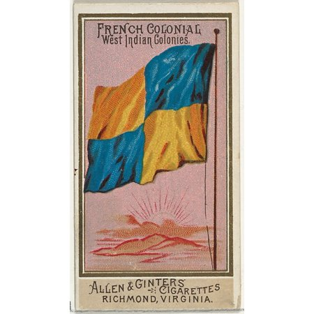 French Colonial West Indian Colonies from Flags of All Nations Series 2 (N10) for Allen & Ginter Cigarettes Brands Poster Print (18 x