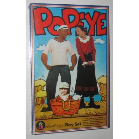 Popeye The Movie Dress Up Colorforms Kids Vintage Toy Set - Movies Dress Up