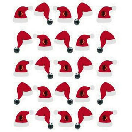 Jolee's Boutique Christmas Santa Hat Stickers, 25 Piece