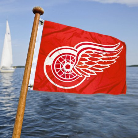 Detroit Red Wings Boat and Nautical Yacht Pennant Flag