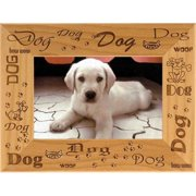 Giftworks Plus PET0071 Dog - Repeating, Alder Wood Frame, 5 x 7 In