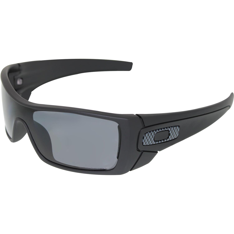 fca1cfc95b Oakley Men s Polarized Batwolf OO9101-04 Black Shield Sunglasses