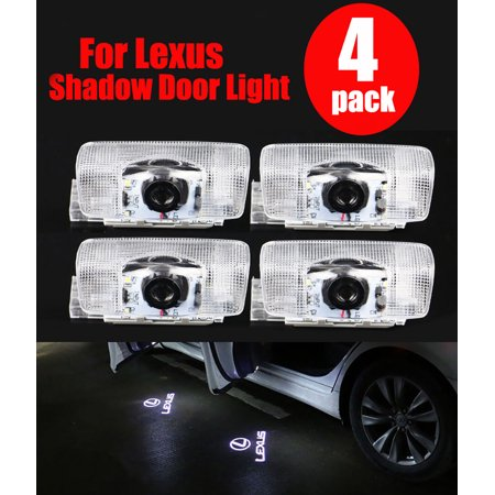 4pcs LED Logo Laser Door Courtesy Ghost Shadow Light for Lexus ES IS LS LX RX SC