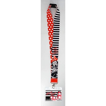 Minnie Mouse Lanyard (Lanyard - Disney - Minnie Mouse w/Deluxe Card Holder New)