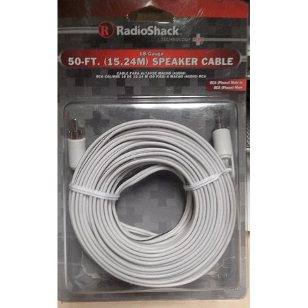 50 FT. 18 GAUGE SPEAKER WIRE, By Radio Shack from -