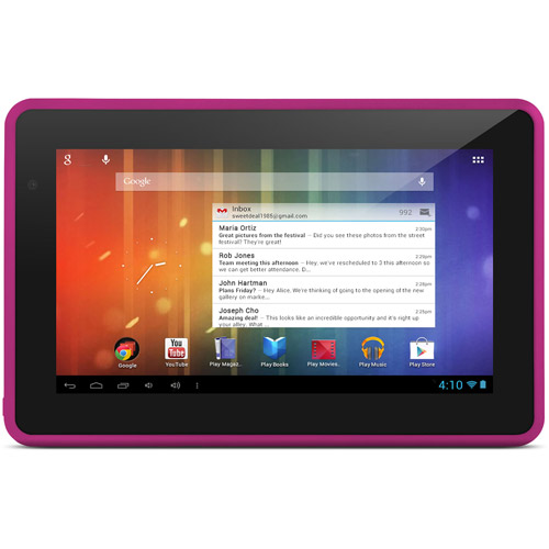 "Ematic 7"" 4GB Google Android 4.1 Wifi Tablet w/ Amazon App Store EGS006 -Pink"
