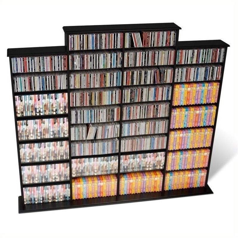 Cd Dvd Wall Media Storage Rack In Black