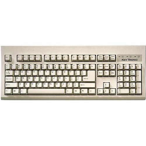 Keytronic KT400P1 104-Key PS2 Keyboard, Beige