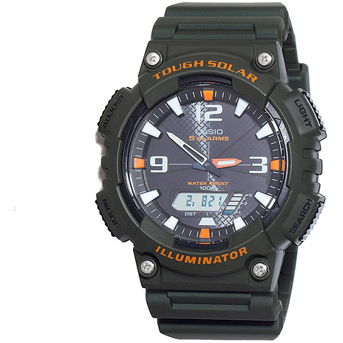 Casio Men's Solar Sport Combination Watch, Green