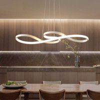 Minimalism Style Acrylic LED Ceiling Light Modern Dimmable Pendant Lamp Chandelier Lighting Fixture for Dining Room Livingroom Bedroom Home Decor