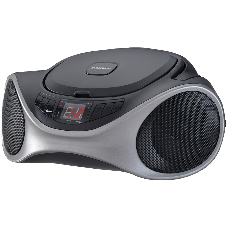SYLVANIA SRCD1063BT-GRAPHITE Bluetooth Portable CD Radio Boom Box (Graphite)