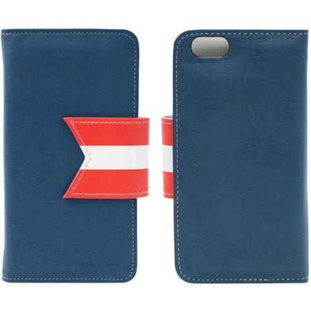 HAPPYMORI Reason Ave. Leather Case for Apple iPhone 6, Navy ()
