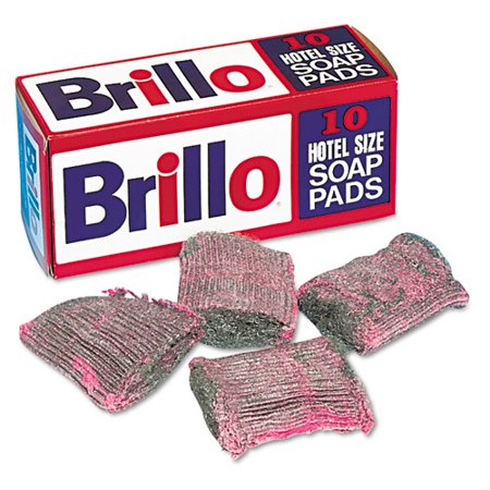 Brillo Steel Wool Soap Pad, 10/box -