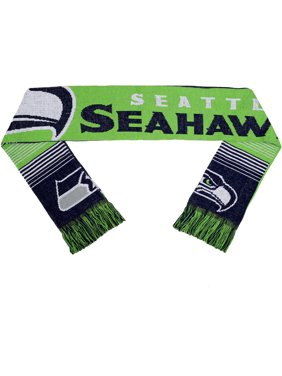 NFL Forever Collectibles Reversible Split Logo Scarf, Seattle Seahawks