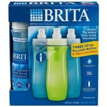 Brita Bottle Water Filtration System ~ Three 20oz Reusable ...