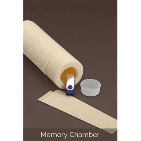 Ceremonial Candles Kanji Love Unity Candle With Memory Chamber