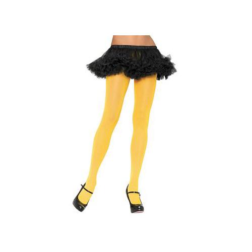 Yellow Nylon Tights 7300 Leg Avenue Yellow