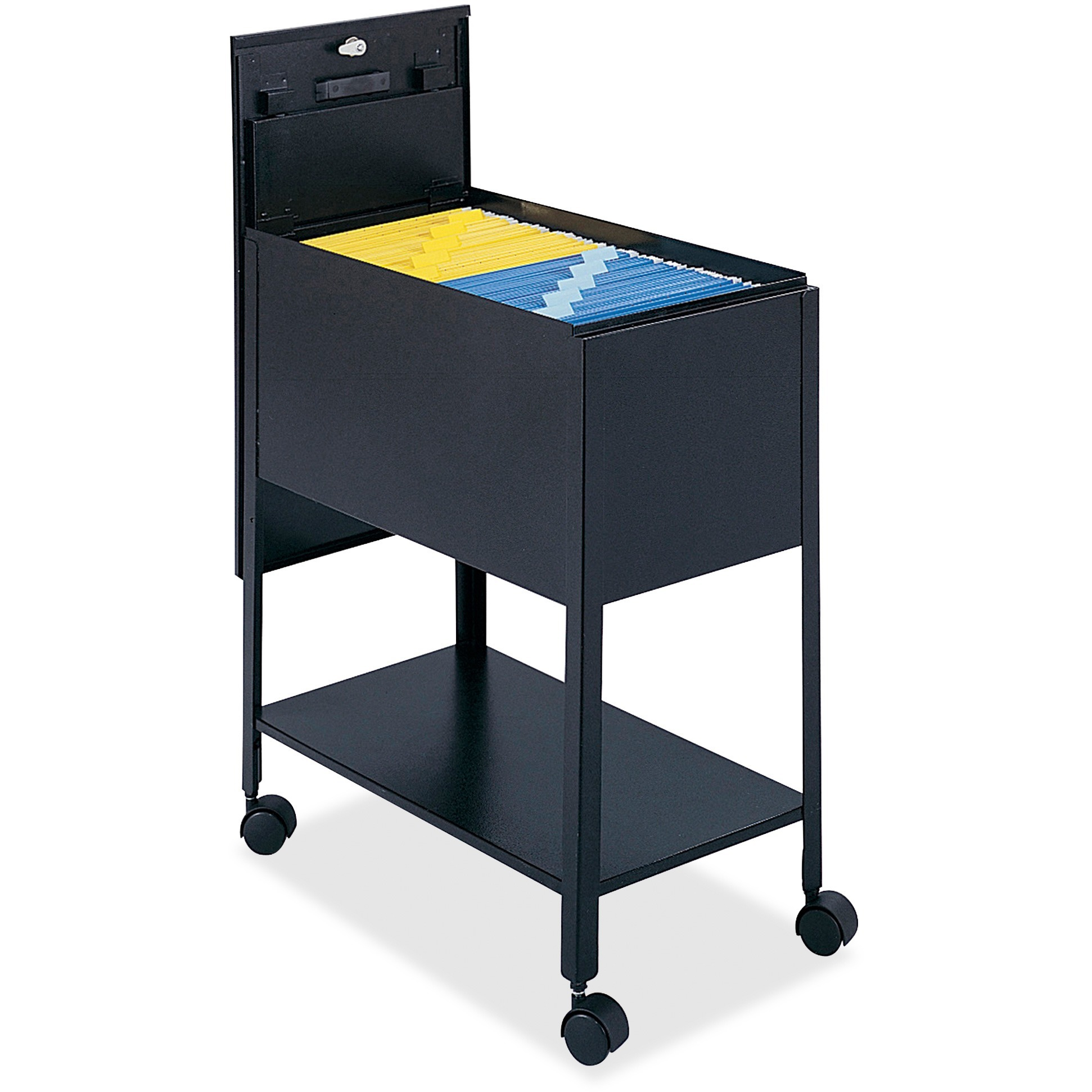 Safco Filing Cart Lockable , Black