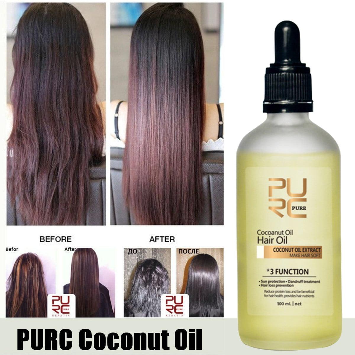 100ml Purc 100 Natural Coconut Oil Hair Care Repair Oil Anti Hair Loss Nourish Soft Hair Sun Protection Dandruff Treatment Walmart Canada