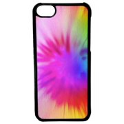 Ganma For iPod Touch 6 Case, Tie Dye Rainbow For iPod Touch 6th Generation Black Case