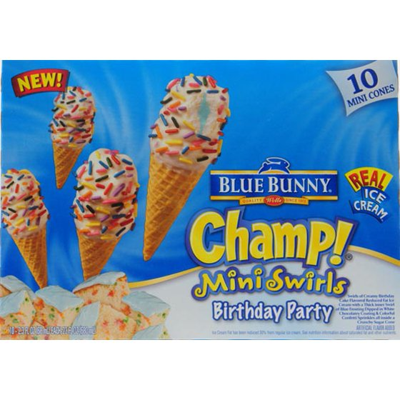 Wells Dairy Blue Bunny Champ Mini Cones 10 Ea Walmart