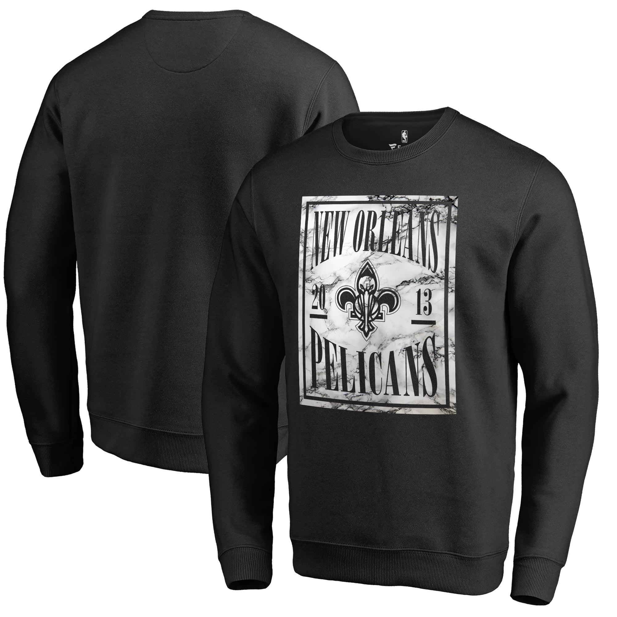 New Orleans Pelicans Fanatics Branded Court Vision Crew Sweatshirt - Black