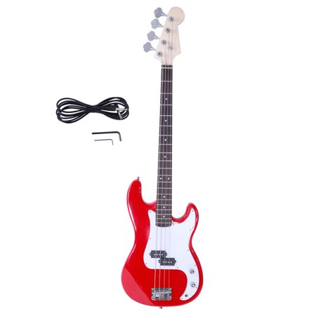 Ktaxon 4-String Electric Bass Guitar for Burning Fire Style Blue Red