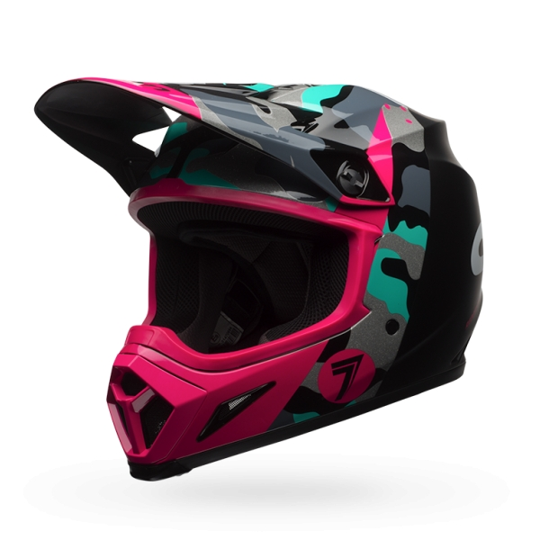 Bell Powersports MX-9 MIPS Equipped Seven Soldier Helmet Magenta XL  7081419