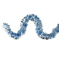 """Northlight 12' x 4"""" Unlit Silver/Icy Blue Wide Cut Shiny Tinsel Christmas Garland"""