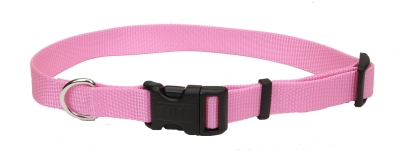 "Adjustable Nylon 3 4"" Dog Collar with Tuff Buckle-Pink, Neck Size 14""-20"" by Coastal Pet Products"