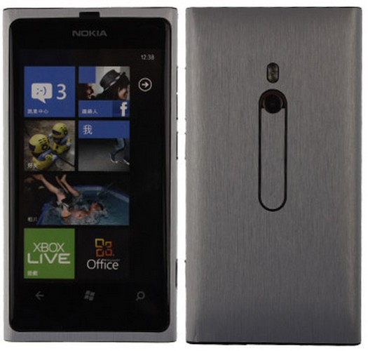 Skinomi Brushed Aluminum Full Body Cover+Screen Protector for Nokia Lumia 800