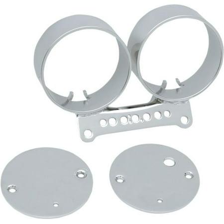 Drag Specialties Chrome Shift - Drag Specialties Gauge Bracket Dual - Chrome   2210-0198