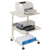 BALT Dual Laser Printer Stand, Three-Shelf, 24w x 24d x 33h, Gray