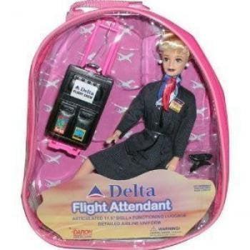 Delta Flight Attendant Doll