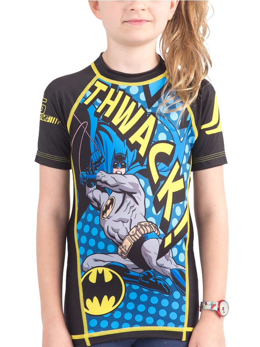 Fusion Fight Gear Kid's Batman Thwack Short Sleeve Rashguard