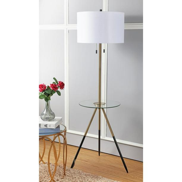 Safavieh Morrison 61 In H Duo Floor Lamp Side Table Brass Gold Black Walmart Com Walmart Com