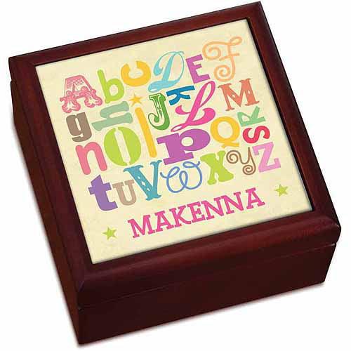 Girl Alphabet Personalized Keepsake Box