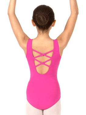 Girls Lattice Back Tank Dance Leotard (Little Girls & Big Girls)