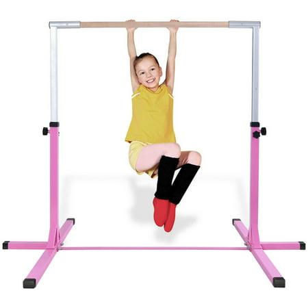 Goplus Adjustable Steel Horizontal Training Bar Gymnastics Junior Home Practice