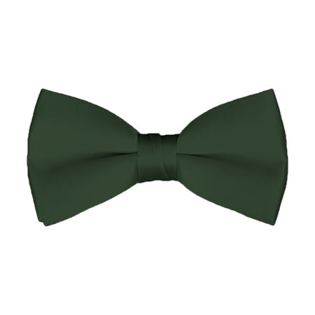 Solid Hunter Green Men's Pre-Tied Bow Tie