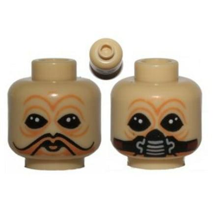 LEGO Tan Ten Numb No Mask / Breathing Mask Minifigure Head [Dual-Sided] [No - Lego Masks