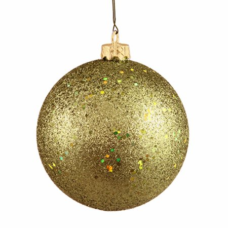 olive green holographic glitter shatterproof christmas ball ornament 4 100mm - Holographic Christmas Decorations