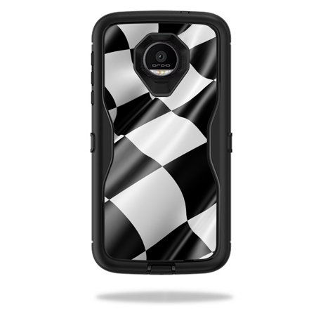 MightySkins Protective Vinyl Skin Decal for OtterBox Defender Moto Z Force Droid Case wrap cover sticker skins Race Flag