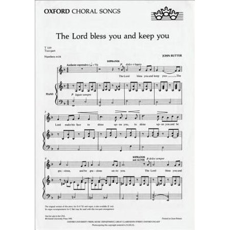 The Lord bless you and keep you: SA vocal score (F major) (The Oxford choral songs) (Sheet music) - Music Maker Song Sheets