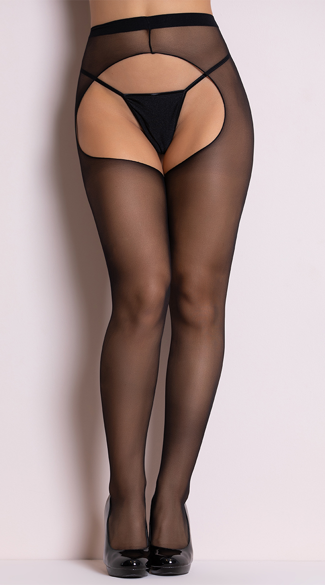 Picture of women crotchless pantyhose