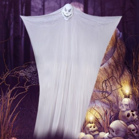 Horror Party Supplies (Codream Horror Halloween Decoration Creepy Hanging Ghost Terror Skull Drop Ornaments Haunted House Halloween Party Props Prank)