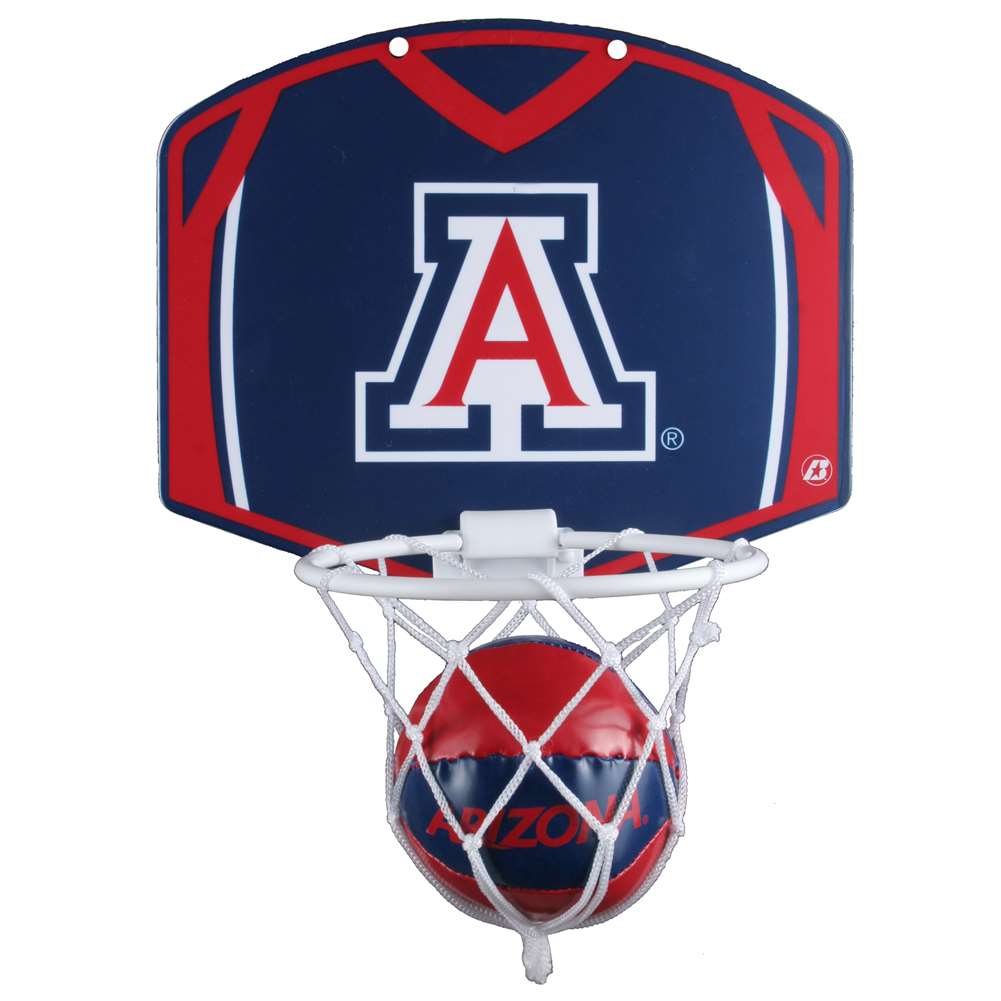 Arizona Wildcats Mini Basketball And Hoop Set