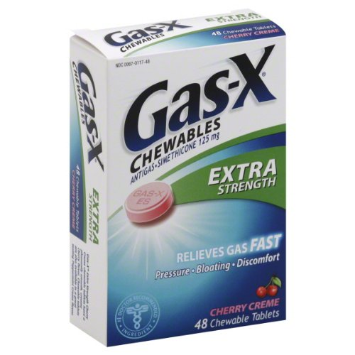 3 Pack - Gas-X Chewables Extra Strength Cherry Creme 48 Tablets Each