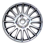 "Set of 4  Metallic Silver Hubcaps 15"" WSC-611S15 - Hub Caps Wheel Skin Cover 15 Inches 4 Pcs Set"