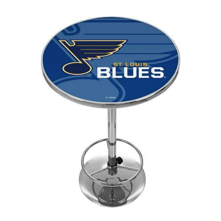 NHL Chrome Pub Table - Watermark - St. Louis Blues ()